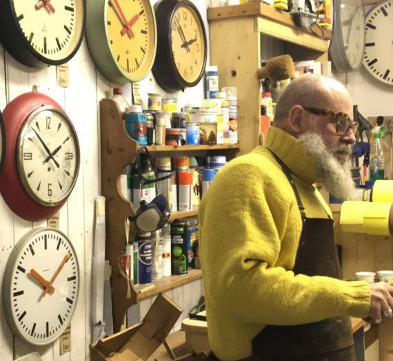 Meet the vintage dealer: clock collector Russell from London Timepiece.