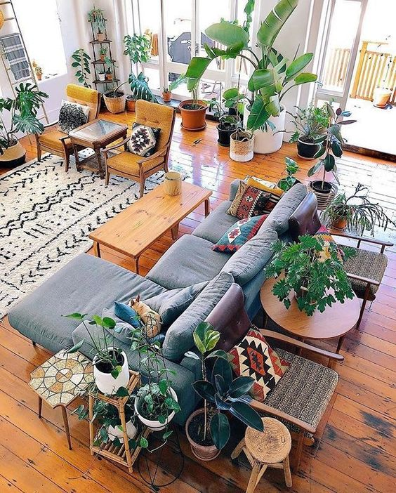 Get the Look: Bohemian Leafy Living Room