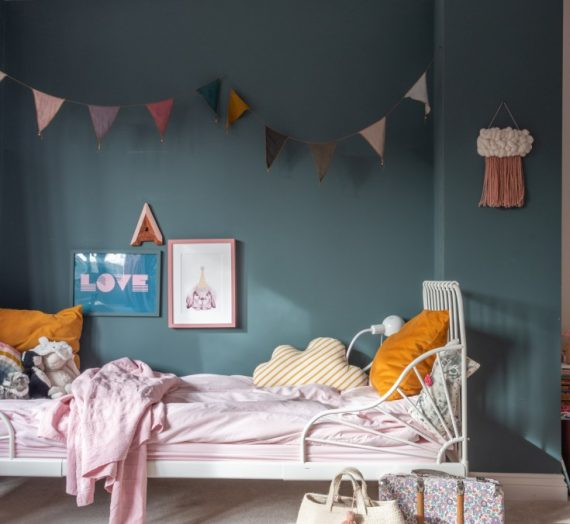 Home tour: Susie Lawrence's magical pink and grey family home.
