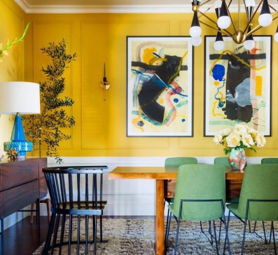 Using Colour: Recreate this Eclectic Yellow Room with Confidence