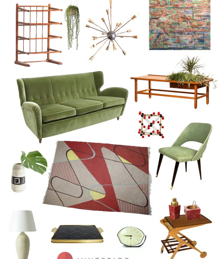Create the look: this gorgeous 1950s living room in 14 key pieces