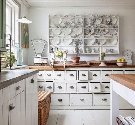 These remarkable vintage storage units will add spades of character to your kitchen