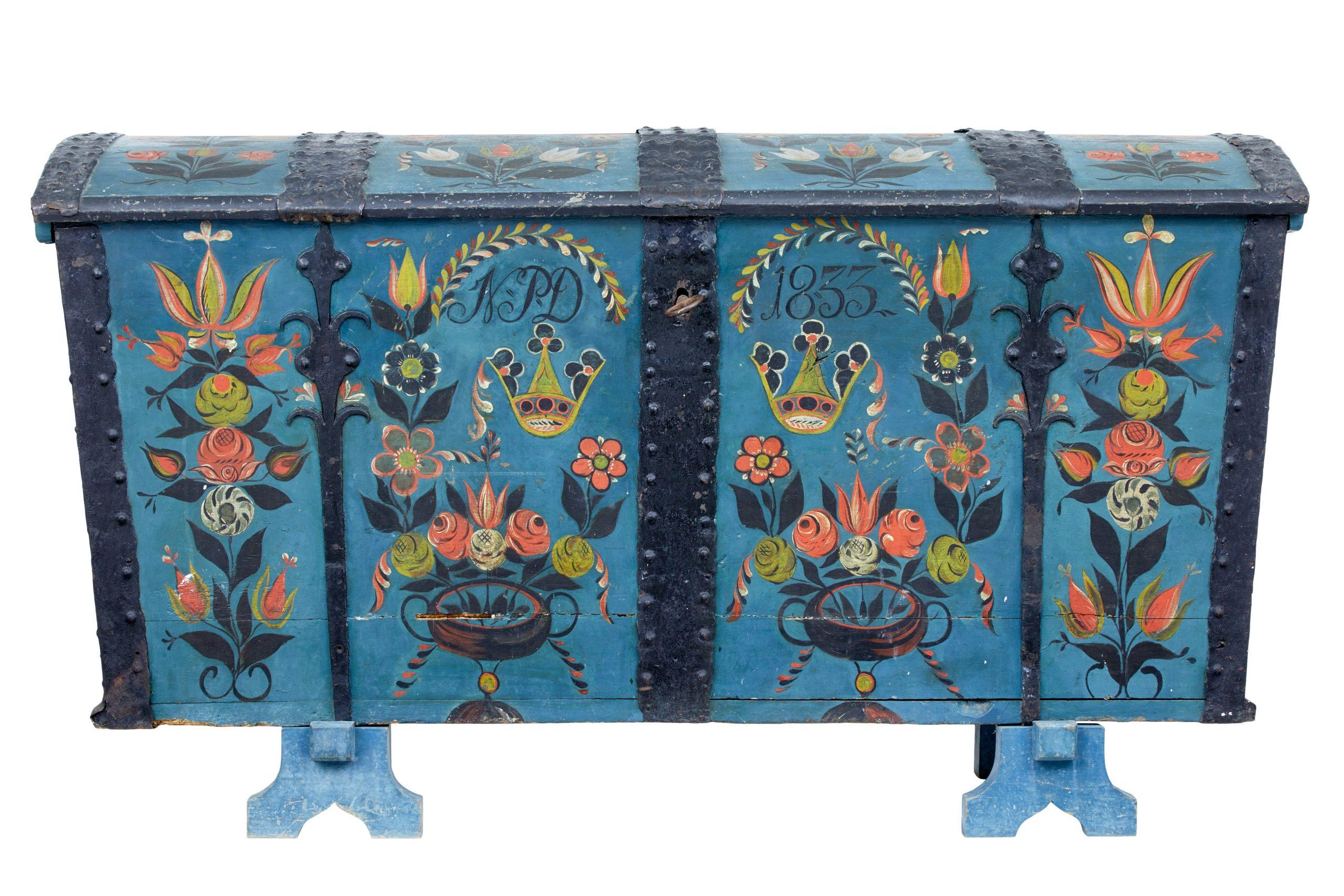 swedish antiques scandinavian wedding chest
