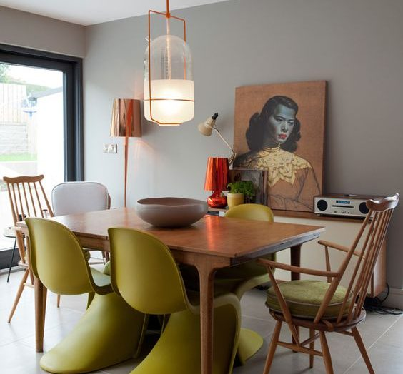 Get the Look: a chic mid-century modern dining room using citric colours