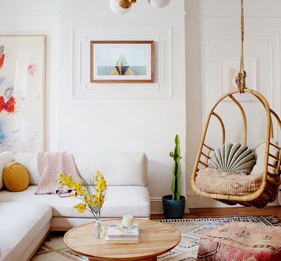Get the Look : a modern bohemian living room