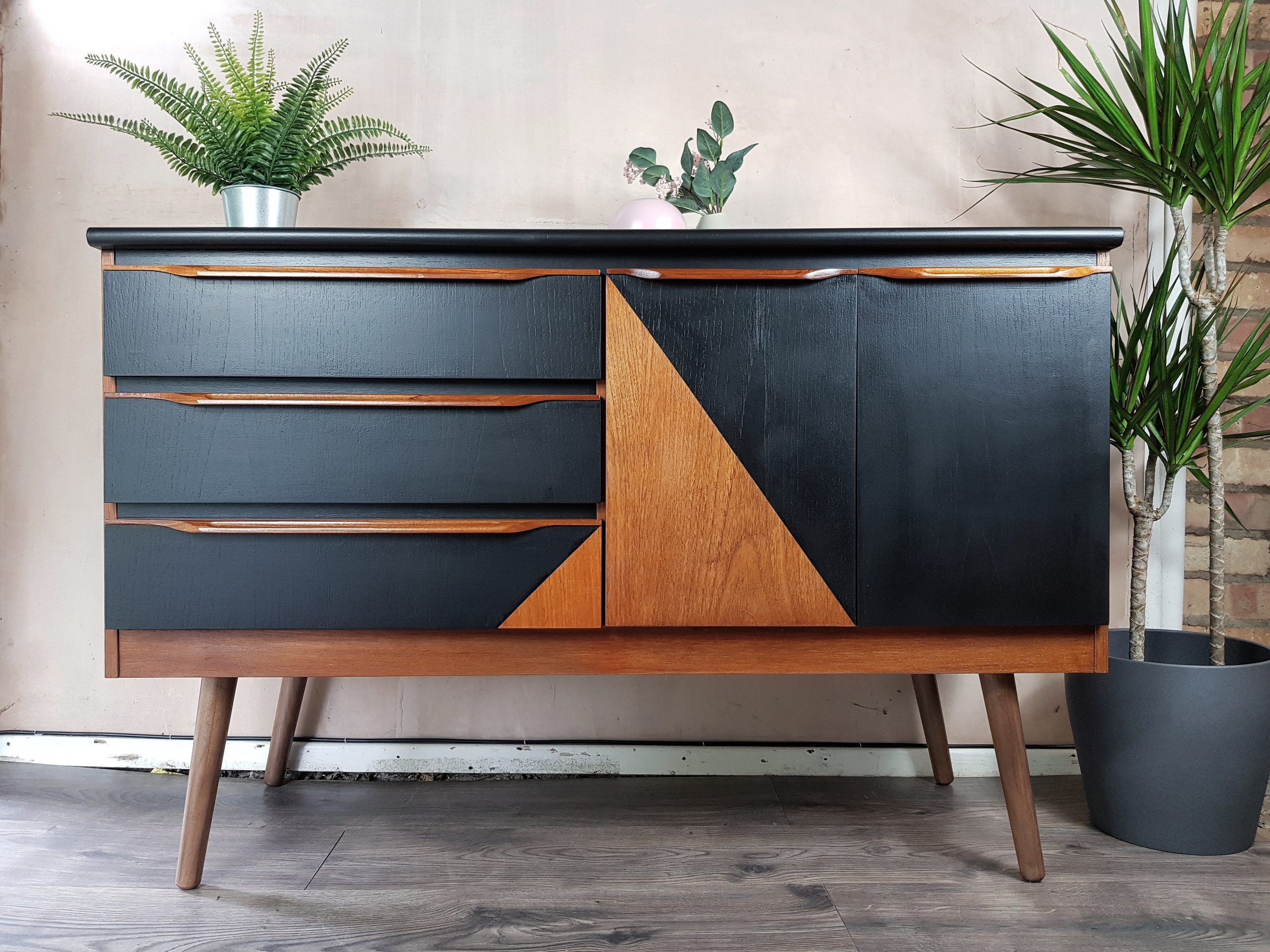 mid century sideboard vintage upcycled