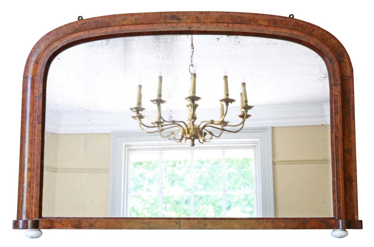 vintage mirror wooden antique victorian