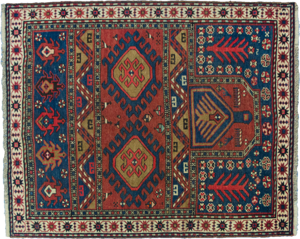 antique persian vintage rug
