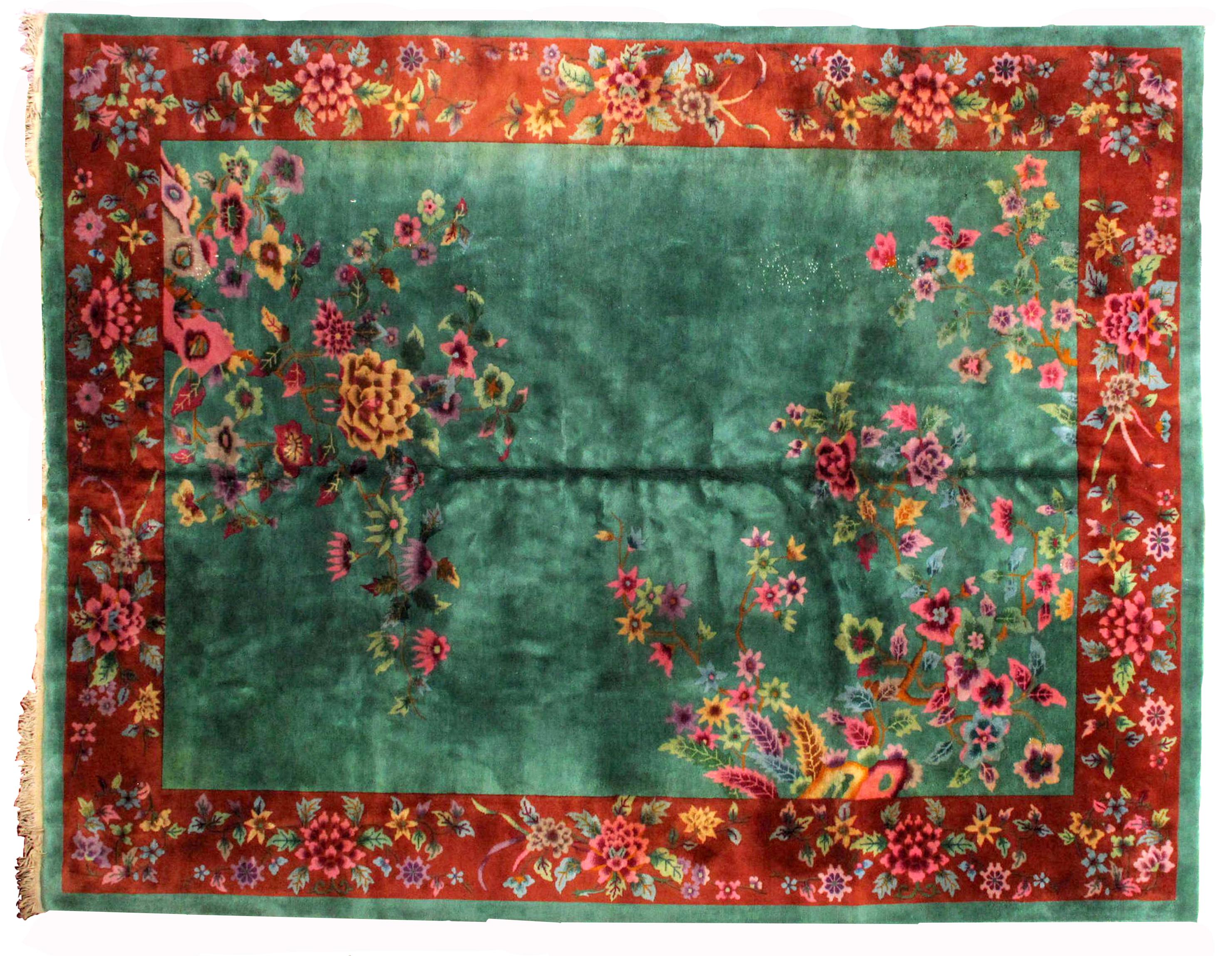 chinese rug antique vintage rug