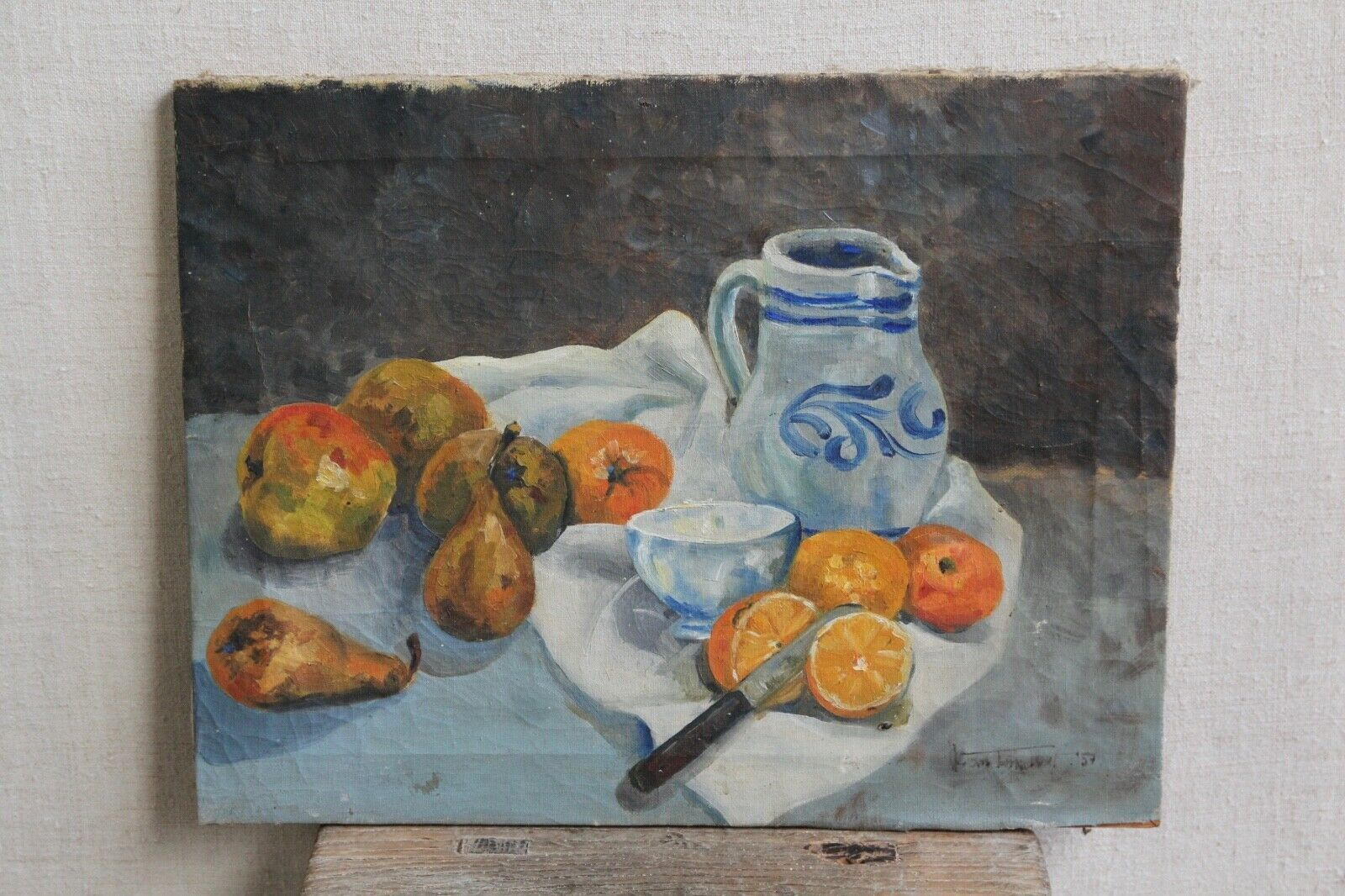 vintage wall art painting still life antique