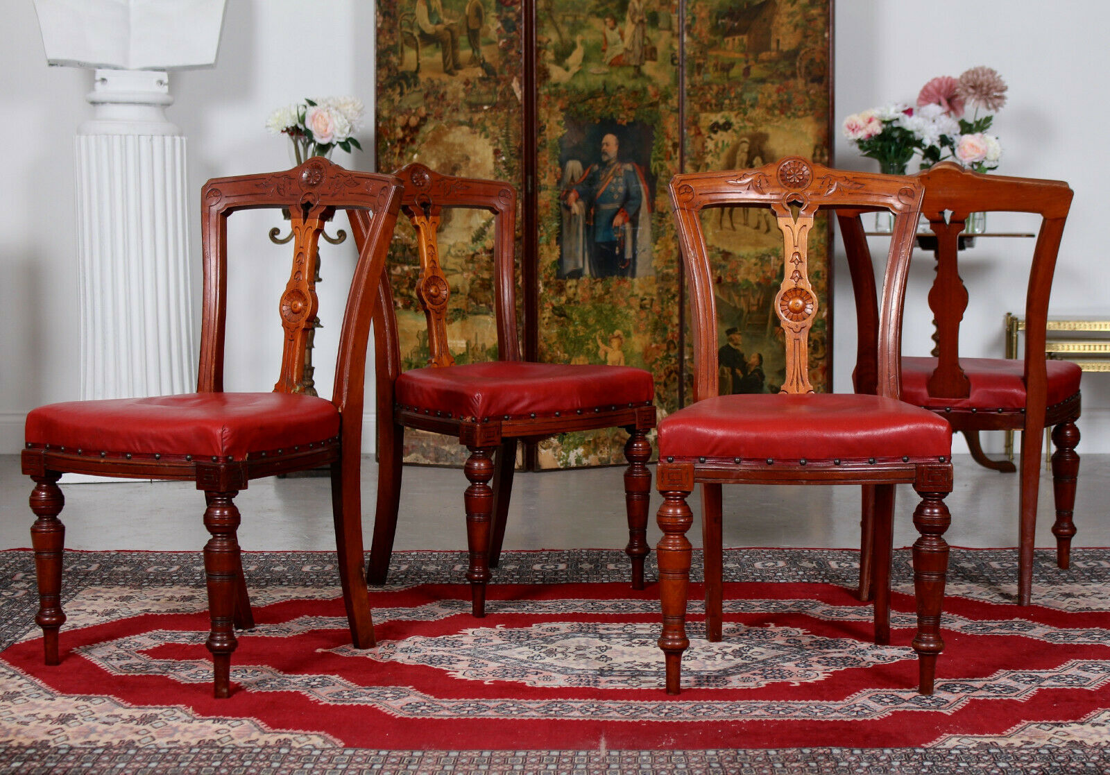 victorian antique chairs dining