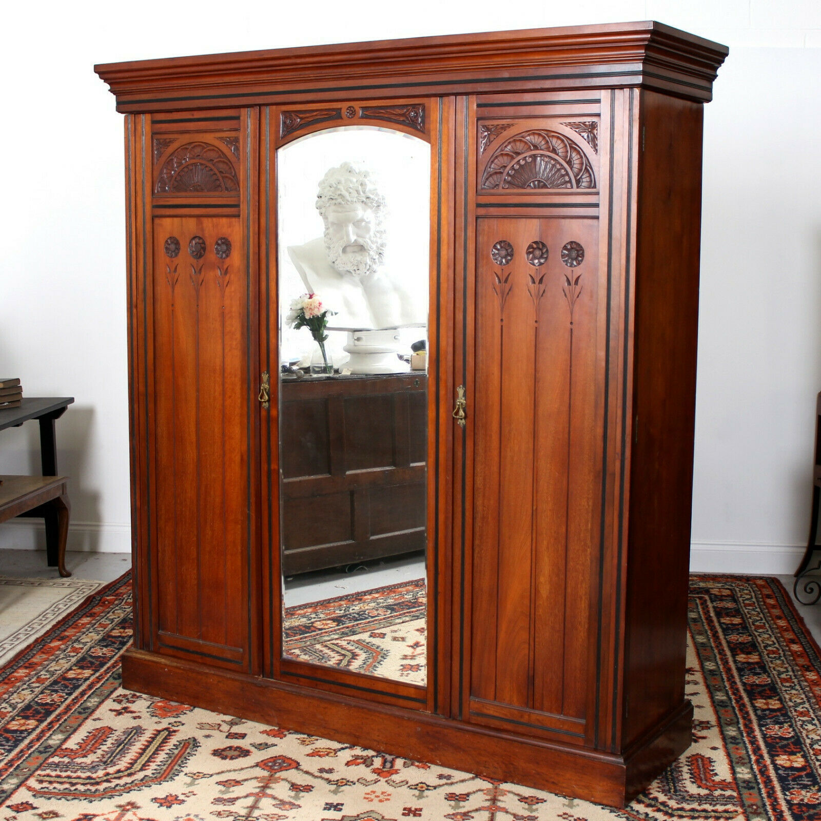antique victorian wardrobe
