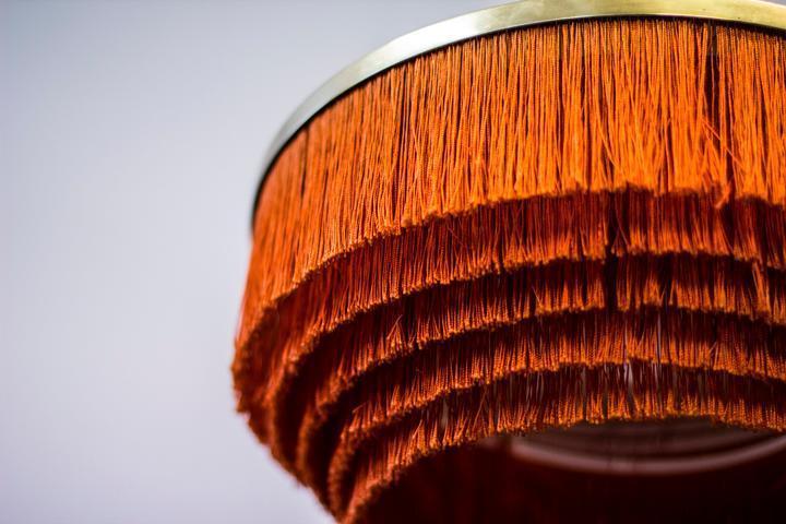 tassel fringe lampshade vintage
