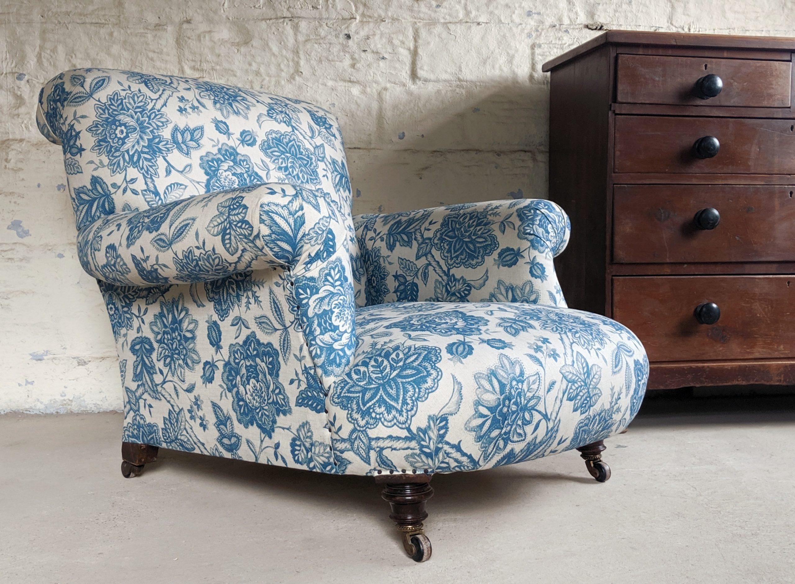 victorian armchair antique floral