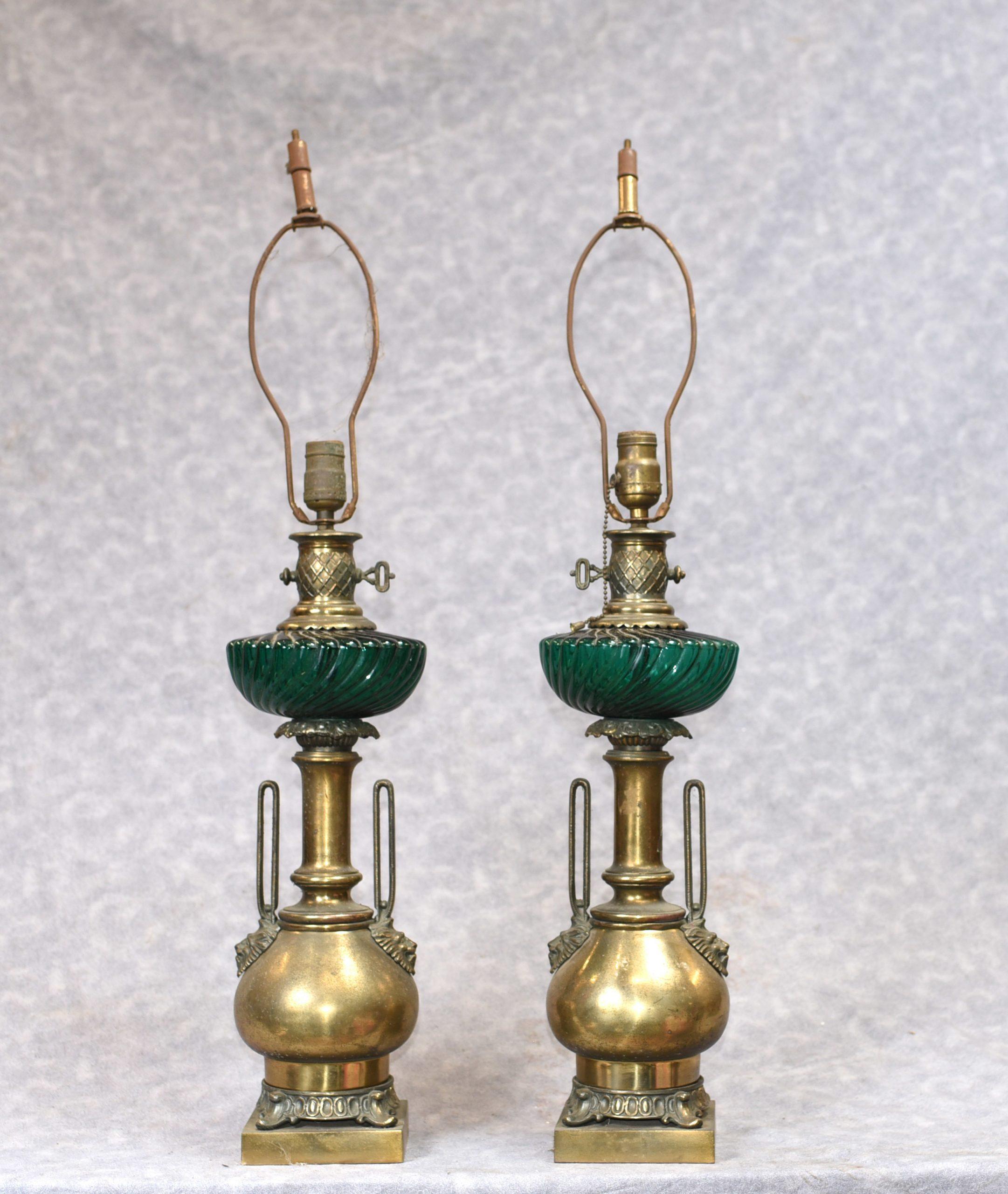 lamps victorian antique brass accessories