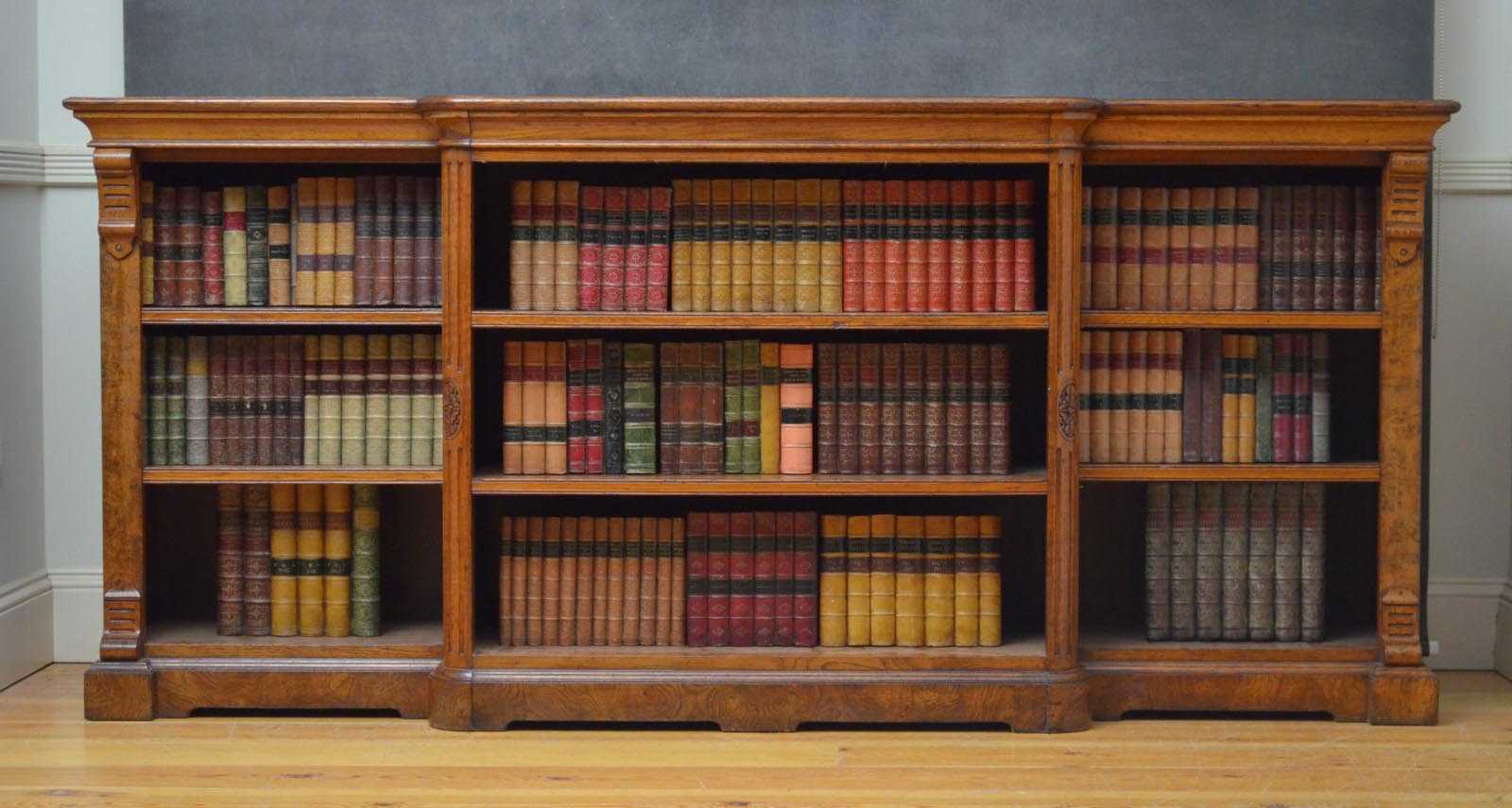 victorian bookcase antique carved
