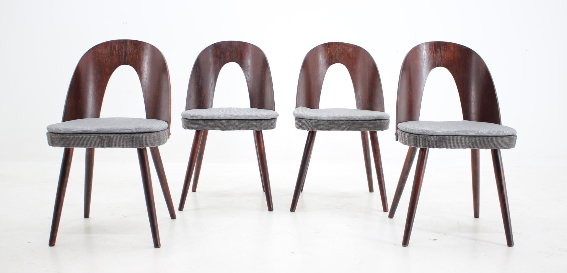 antonin suman tatra dining chairs 1960s mid century