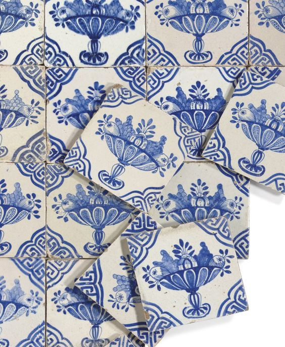 delft blue antique tiles