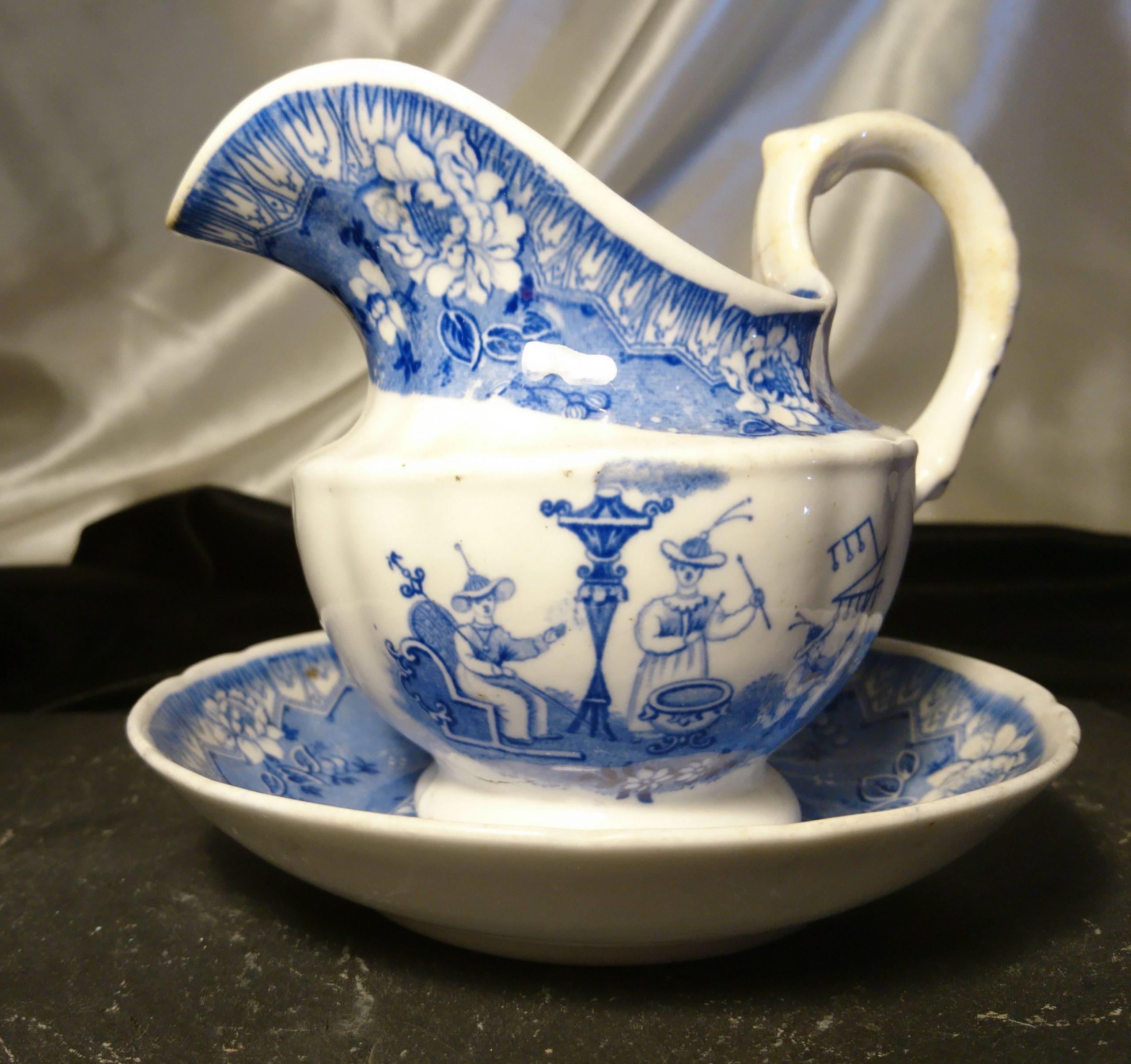 delft china antique pitcher