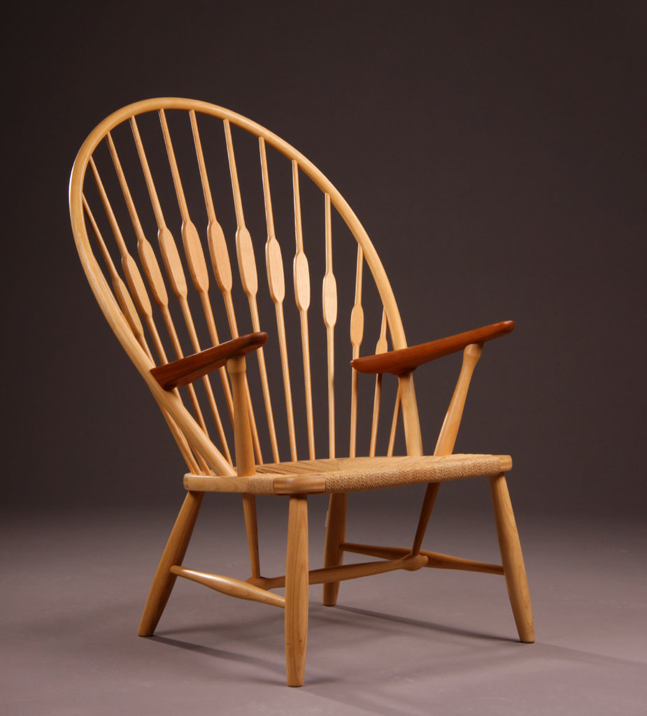 hans wegner peacock mid century chair danish