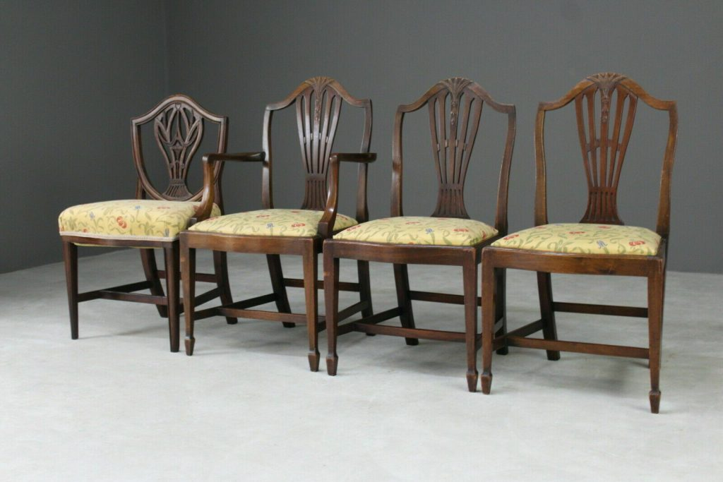 George Hepplewhite Style Antique Chairs