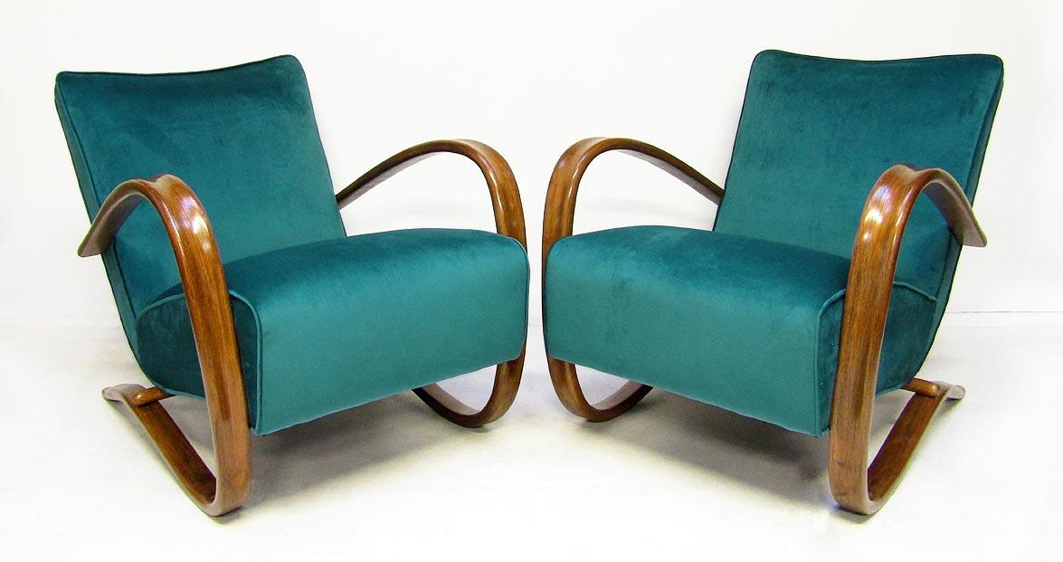 jindrich halabala czech mid century armchairs