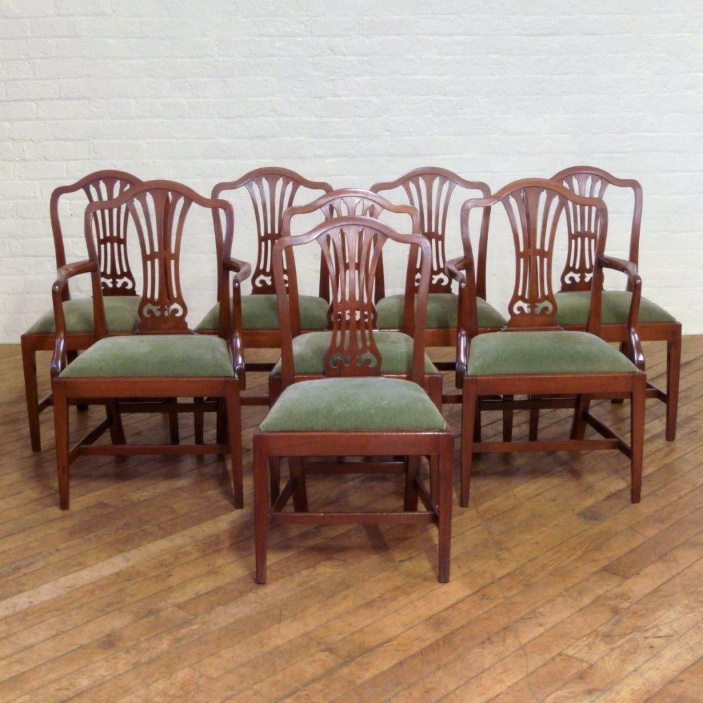 Thomas Sheraton Style Antique Chairs