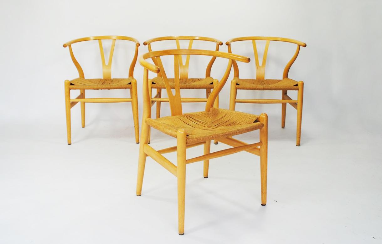 wishbone chair hans wegner mid century