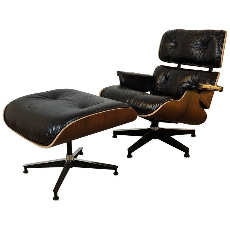eames lounge chair and ottoman from ionic chair designers charles and ray eames