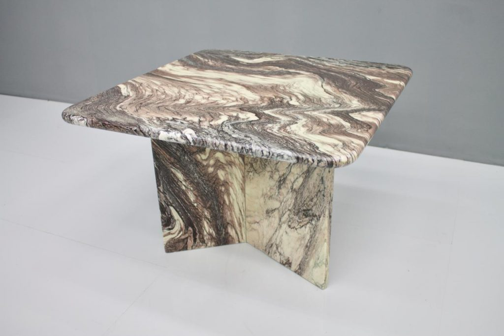 80s Italian marble side table