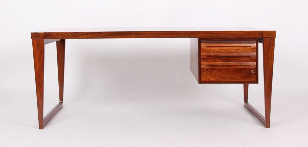 rosewood desk mid century danish kai kristiansen