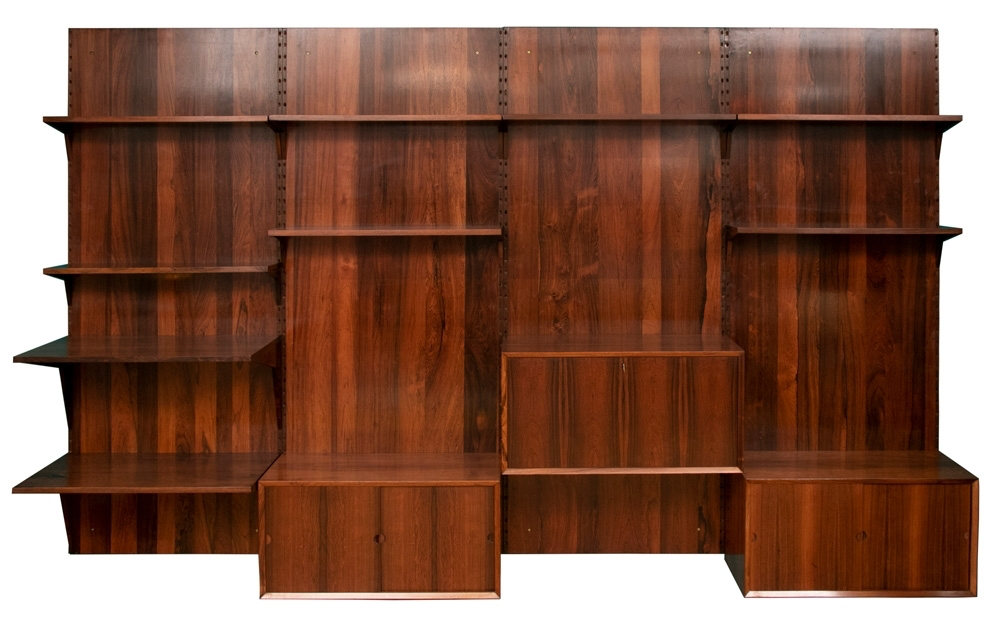 rosewood danish poul cadovius shelving system
