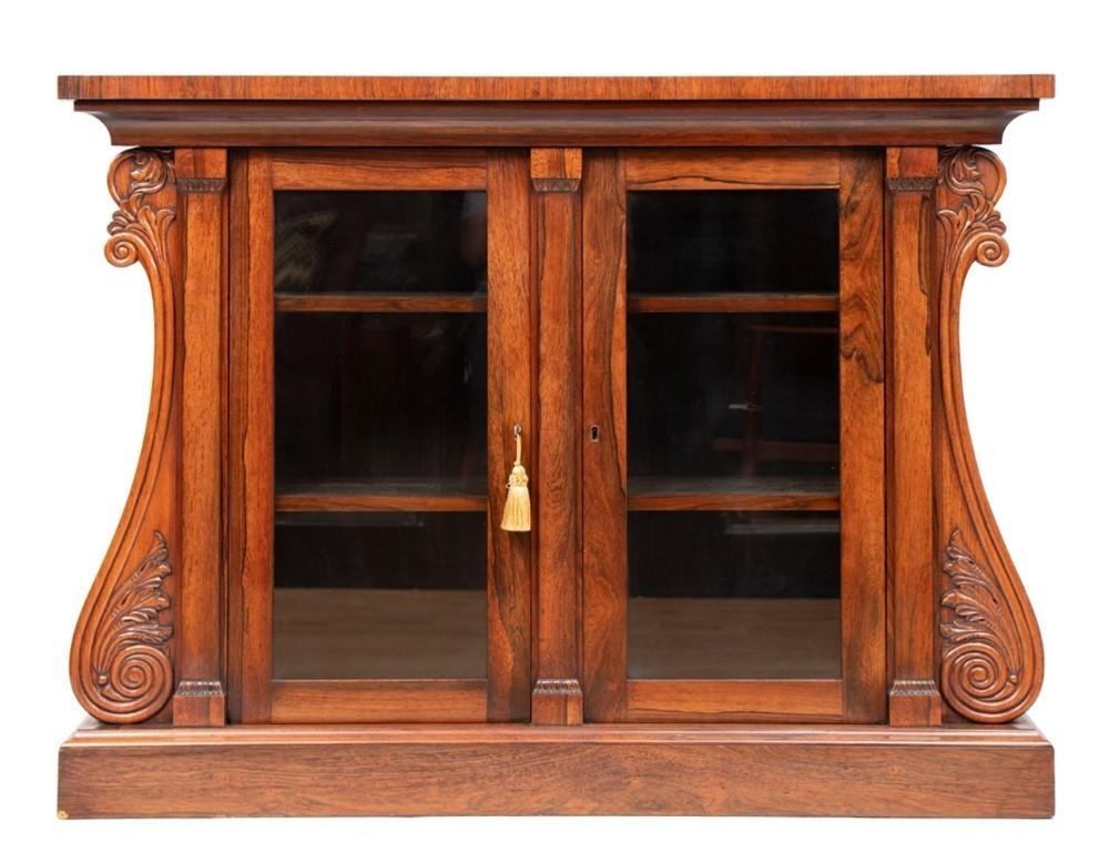 rosewood cabinet regency antique