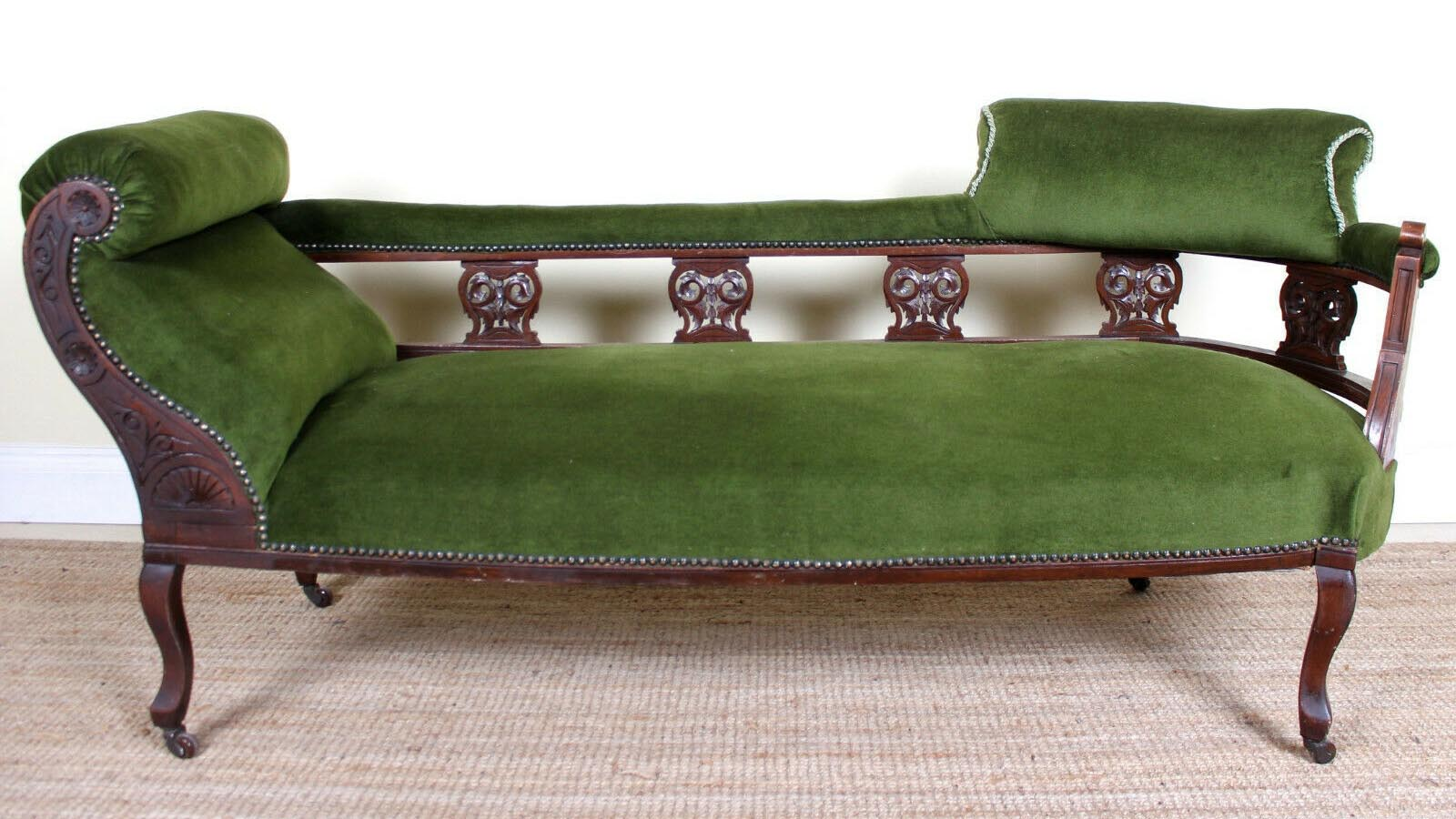 victorian antique sofa chaise longue